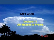 Study Guide on Airmasses and Fronts