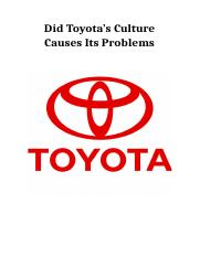 234008625-Did-Toyota-s-Culture-Causes-Its-Problems.docx