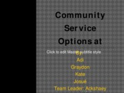 Community Service Options at Georgia final Tech