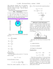 Rotational Motion-solutions