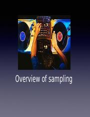 Lecture 09- Overview of Sampling
