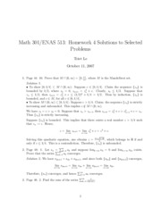 Math 301 Problem Set 4 Solutions