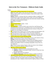 THST 110: Intro to the New Testament - Research Paper #2