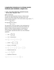 Physics 305_Lecture Notes on Solution of Eigenfrequencies and Normal Modes