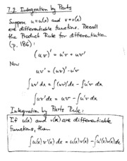 7.2 integration by parts