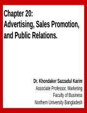 Chapter 20 Managing advertising, Sales Promotion and Public Relations_ksk