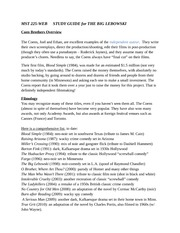 MST 225 WEB SP 2012 STUDY GUIDE for THE BIG LEBOWSKI