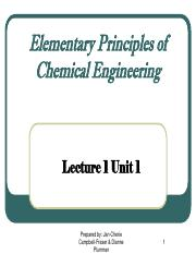 Unit 1 - Chemical Engineers