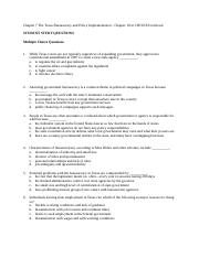 CHAPTERS CHOICES TEXT CH. 10-11 TEXAS GOVT STUDENT STUDY QUESTIONS