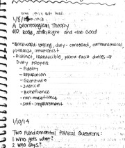 Political philosophy, Ross and Hobbes notes