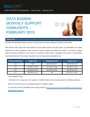 docu93015_Data-Domain-Monthly-Support-Highlights_February 2019.pdf