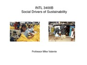 Class Slides - Social drivers of sustainability - student version