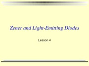 lesson 4 2010 zener diodes with activities