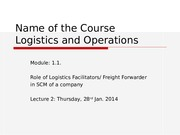 Lec 1&2 Combined - Role of FF 31-March & 02-April
