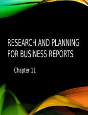 Researching and Planning for Reports