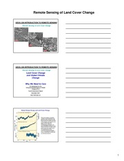 Land Use and Land Cover Change Lecture Note Template