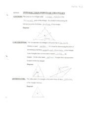 Intersection Points of Triangles