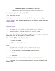 how to make a demonstration speech outline