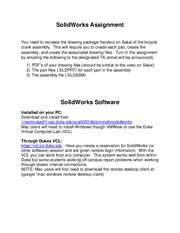SolidWorks Assignement