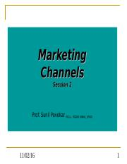 Marketing Channels - 2