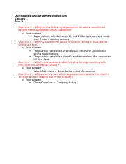 QuickBooks Online Certification Exam S1P2.docx ...