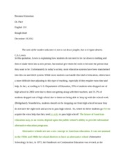 10 Page Paper- Rough Draft