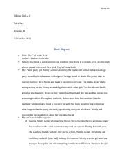 Book Report for The Girl in the Park.docx