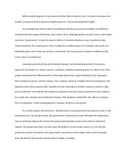 Real Growth Essay