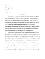 Beatles essay