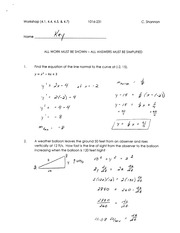 Calculus for Engineering Tech 1 workshop solutions 6