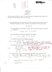 MATH 111 Quizzes with most solutions