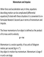 PHYS 1800_Lecture 13_Momentum and Impulse