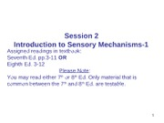 Session 2 Introduction to Sensory Mechanisms (1)