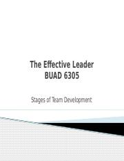 Stages of Team Development Revised