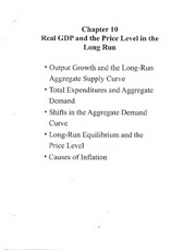 Ch 10 Notes (ECON E-202; Introduction to Macroeconomics; Wenyi Shen)