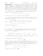 Exam 1 Solution on Calculus III