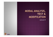 Lecture 9 - Modal analysis, Test & modification