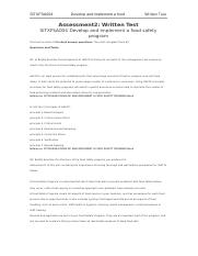 SITXFSA004 Develop and implement a food.docx