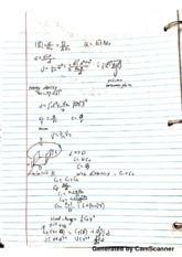 potential energy of a capaciter calcuation notes
