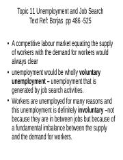 Topic 8 Unemployment and Job Search.ppt