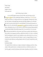Problem%2FSolution Essay - Valerie Savage.docx