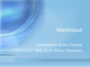 Intro to Martinique course