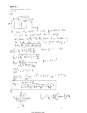 Fluid Mechanics HW11