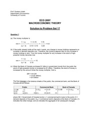 ECO 209Y Fall 2013 Problem Set 17 Solutions