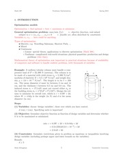 MATH 287 Spring 2015 Introduction to Optimization Models Notes