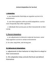 Animal Adaptations for Survival notes.docx