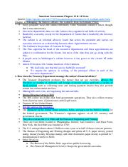 American Government Chapter 13 & 14 Notes .docx