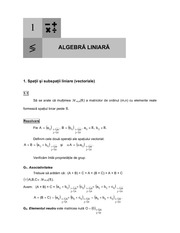 Linear Algebra lecture note