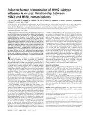 avian to human H9N2 flu