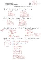 Homework answers geometry